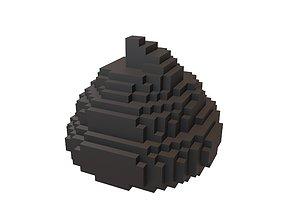Pixel Pile of Poo v1 004 3D asset