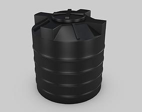 Water tank 3D asset game-ready