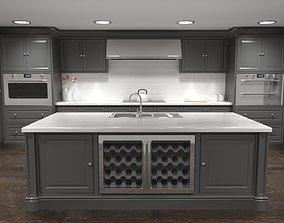 Luxury Kitchen 3D freezer
