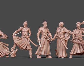 3D printable model Ronin Bundle - 6 ronin 35mm scale