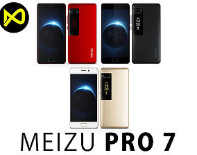 3D Meizu Pro 7 All Colors