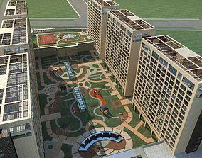 city-block High-Rise Residential 3D