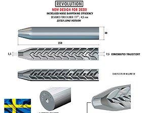 3D print model Airgun silencer REVOLUTION 177