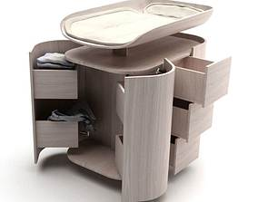 3D model Wooden Baby Changing Table