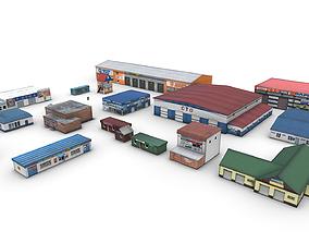 3D asset Pack Of Car Services