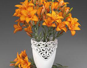 Bouquet of lilies-4 3D