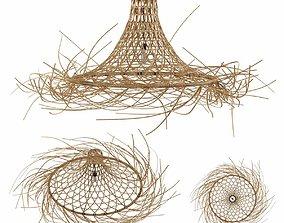 3D model Bazar Bizar MYKONOS Rattan lampshade