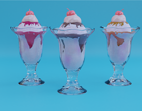 Ice Cream Glass 3D model