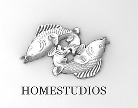 3D printable model FISH FOR RINGS PENDANTS ETC silver