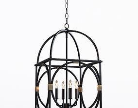 3D Circle Lattice Hanging Lantern - 4 light
