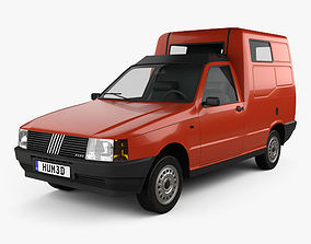 3D model Fiat Fiorino Panel Van 1988