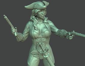 3D printable model illustration Female pirate