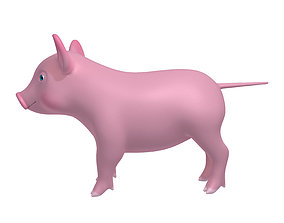 pink Cartoon Pig 3D