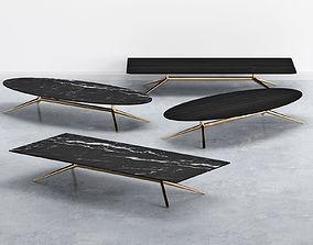 3D Mondrian Large Tables