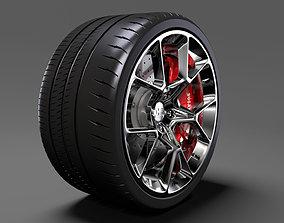 3D Bugatti Chiron wheel 4