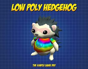 Cute Low Poly Hedgehog 3D asset