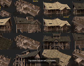 Top-down house set 3D