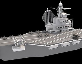 3D model game-ready aircraft carrier