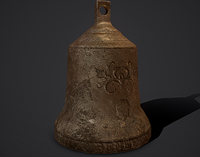 3D model Medieval Style Bronze Bell Decoration