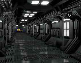 Sci Fi Corridor 3D model tunnel