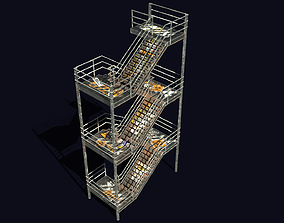 Emergency Exit Stairs 3D model