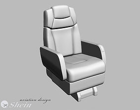 3D model airplane business class seat