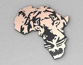 3D print model Africa Lion Charm Pendant