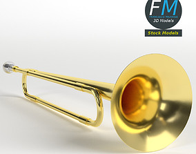 3D School band toy trumpet