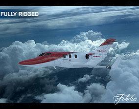 3D rigged Honda jet