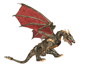 Dragon 3D model animated game-ready
