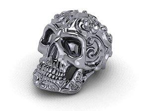 3D print model rings skull - 01