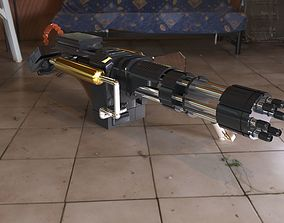 heavy machine gun 3D asset VR / AR ready