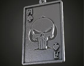 Fan art Punisher playing card pendant 3D print model