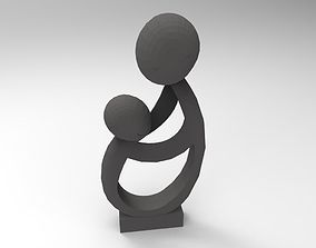3D asset Mother and Child sculpture