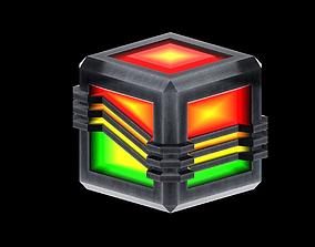Energy Cube 3D asset