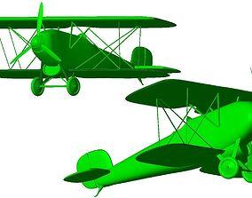 Aircraft biplane A 3D print model