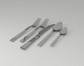 Cutlery Set 3D asset