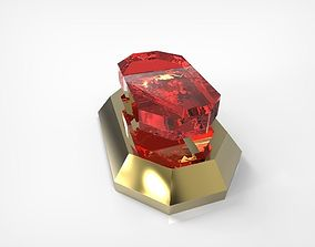 3D print model Jewelry Part With Ruby Gem