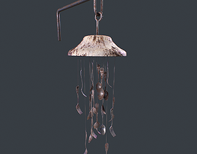 WindChime Spoon And Fork static 3D asset