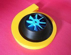 3D print model centrifugal compressor