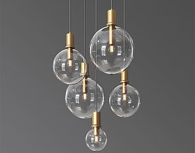 3D Lampatron Penball Minimalist lamp-suspension glass ball