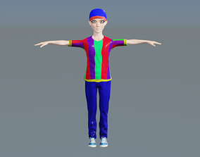 Cute Toon Boy Full rigged ready For Animation and 3D model