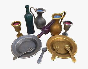 Stylaized Dishes 3D asset