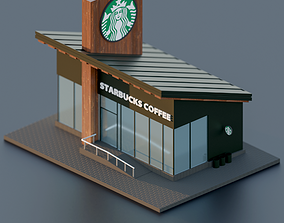 Starbucks 3D asset