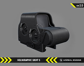 3D model Holographic Sight S - FPS Gun Attachment for 1