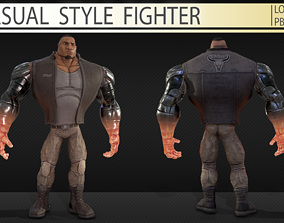 Casual style fighter 3D asset