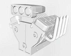 3D printable model V8 engine