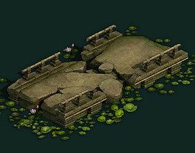 3D Kashayana Buddhism Forest Broken Stone Bridge 01