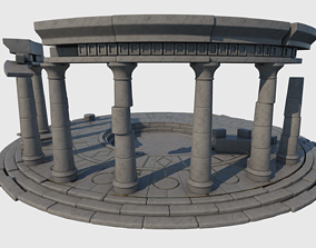 3D model ruined Ruined Altar Ver 1