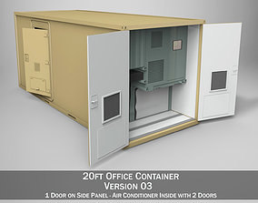 20ft Office Container Version 3 3D